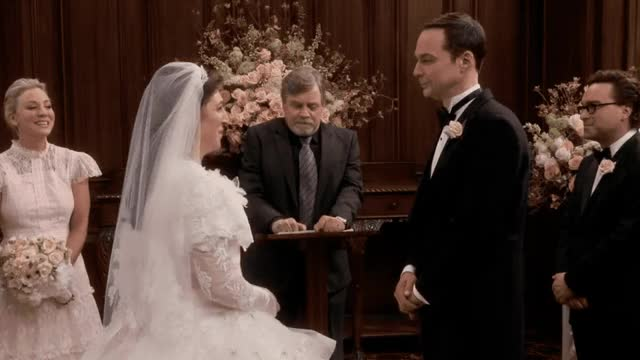 Watch this big bang theory GIF by GIF Queen (@ioanna) on Gfycat. Discover more awww, bang, big, bride, cheesy, church, couple, groom, happy, i, i love you, kiss, kisses, love, marriage, sheldon, theory, together, vows, you GIFs on Gfycat