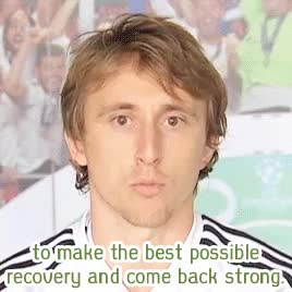 Watch and share Get Well Soon GIFs and Luka Modrić GIFs on Gfycat