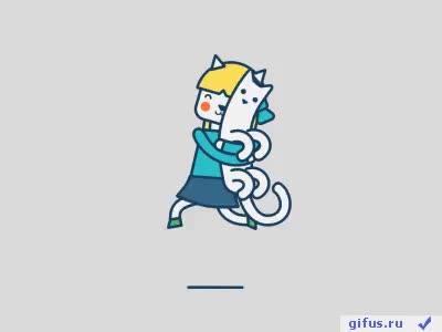 Watch and share Gif, Гифки, Гиф, Gif Анимация, Рисованные, Радость, Бег, Коты, Гифус GIFs on Gfycat