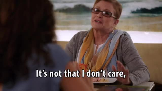 Watch this carrie fisher GIF on Gfycat. Discover more carrie fisher, i don't care, idc GIFs on Gfycat