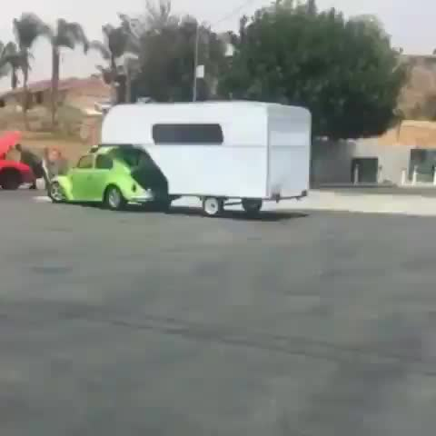 Watch and share An Old Model Of A VW Bug And A Trailer Hitch GIFs by tothetenthpower on Gfycat
