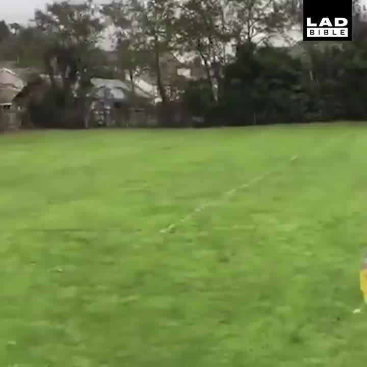 soccergifs, Dad Pushes Goalkeeper Son Into Save GIFs