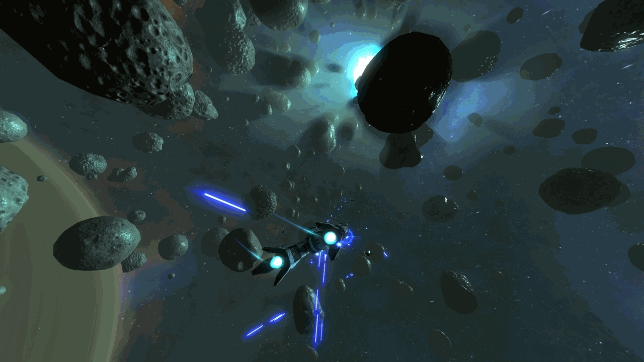 Unity3D, playmygame, Progress on my space combat game: Added asteroids, sun shafts, and fog (reddit) GIFs