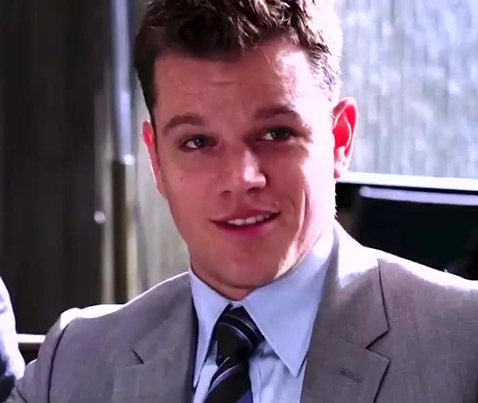 Matt Damon, chuckle, funny, laugh, laughing, lol, matt damon laugh GIFs