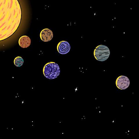 hi, planets, robin eisenberg, new planets, 7 planets, seven planets – GIFs