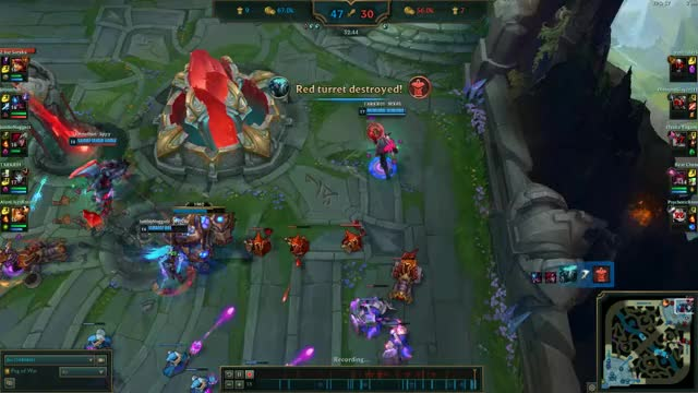 Watch Oneshot outplay GIF by @txrkr01 on Gfycat. Discover more leagueoflegends GIFs on Gfycat