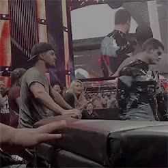 Watch My aesthetic is Stephen aggresively jumping into the ring at GIF on Gfycat. Discover more *, 2015, arrowcastedit, by rachel, stardust, stephenamelledit, wwe raw GIFs on Gfycat