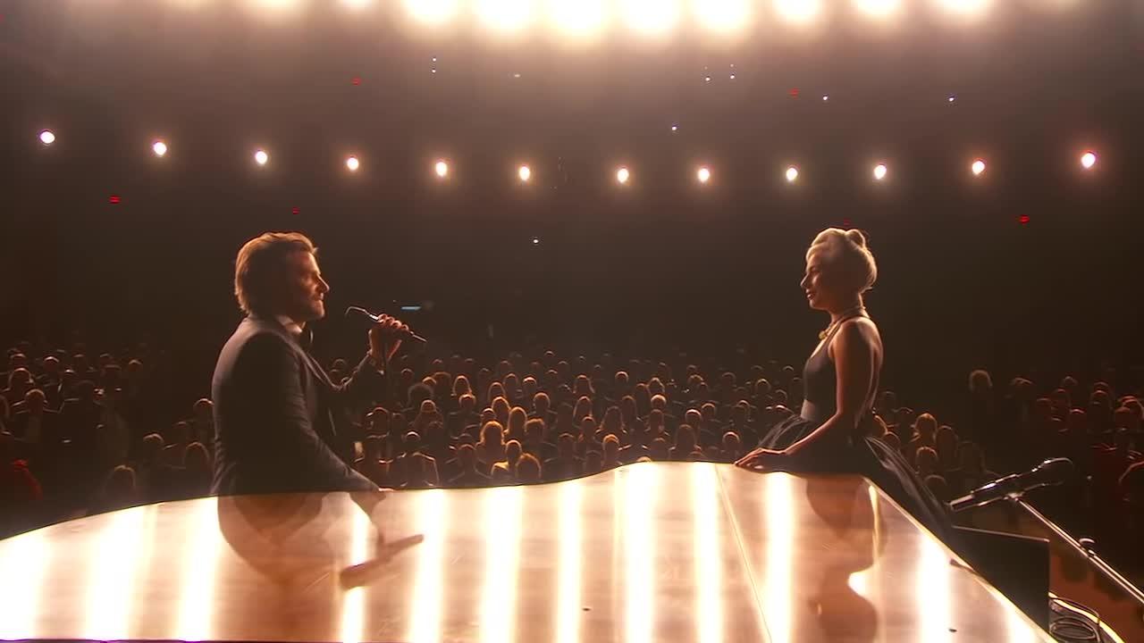 a star is born, academy awards, bradley cooper, lady gaga, ladygagavevo, love, music, oscars, oscars 2019, shallow, soundtrack, Lady Gaga, Bradley Cooper - Shallow (From A Star Is Born/Live From The Oscars) GIFs