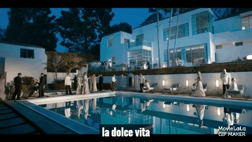 life, movies, pool, Cafe Society Trailer GIFs