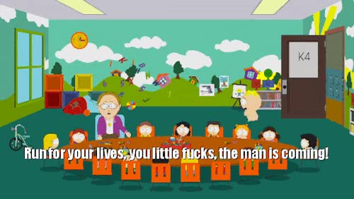 """Watch and share South Park Safe Space Butters""""Run For Your Lives, You Little Fuckers!"""" GIFs on Gfycat"""
