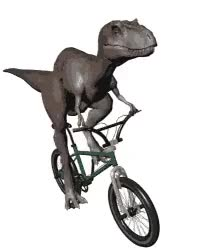 Watch and share Dinosaur GIFs and Bicycle GIFs on Gfycat