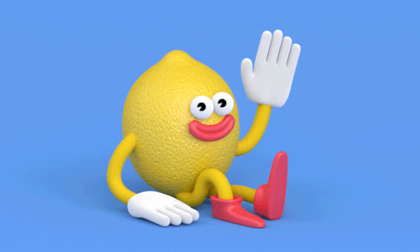 bye, cute, goodbye, hello, hey, lemon, Hello lemon GIFs