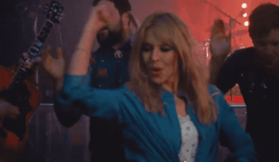celebrate, dance, dancing, excited, falling, from, guitar, happy, kylie, me, minogue, move, music, party, partying, stop, woohoo, yay, yeah, yes, Kylie Minogue - Stop me from falling GIFs
