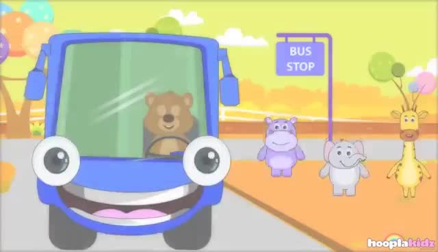 Wheels On The Bus More Nursery Rhymes From Hooplakidz 60 Minutes Compilation Gif Find Make Share Gfycat Gifs