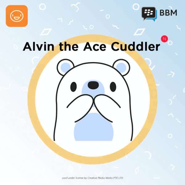 Watch Sticker---Alvin-the-Ace-cuddler---900x900---Sticker-Shop-px GIF on Gfycat. Discover more related GIFs on Gfycat