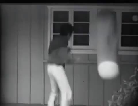 Watch Video of Bruce Lee punching his heavy bag GIF on Gfycat. Discover more related GIFs on Gfycat
