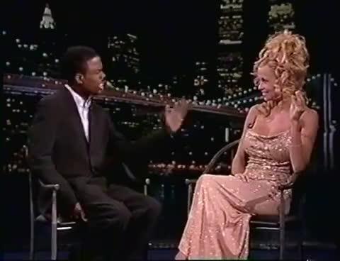 celebs, chris rock, Chris Rock interviews Pamela Anderson GIFs