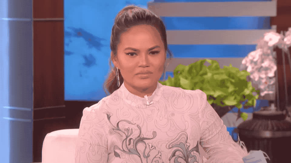 chrissy, confused, confusion, ellen, god, it, john, legend, my, oh, omg, quiz, seriously, teigen, that, this, wait, was, what, Chrissy Teigen is confused GIFs