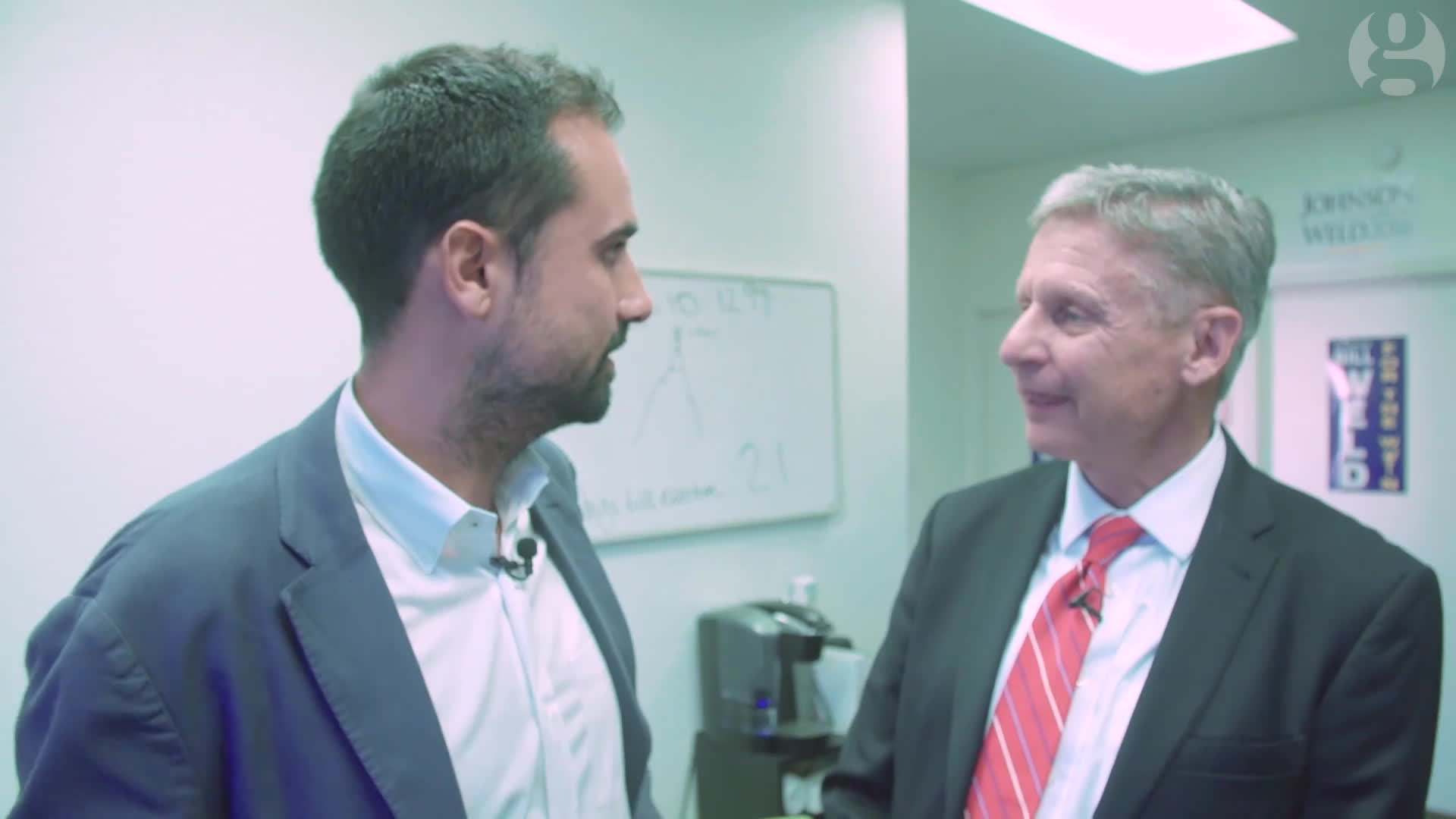 gary johnson, libertarian, trump, Gary Johnson loses his cool when pressed on his disputed tax policy   US Elections 2016 GIFs