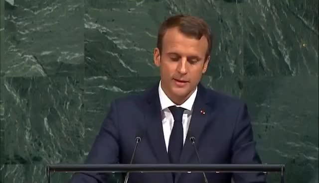 emmanuel macron, politics, #UNGA General Debate - 19 September 2017 (Donald Trump, Emmanuel Macron, & more) - 9am EDT GIFs
