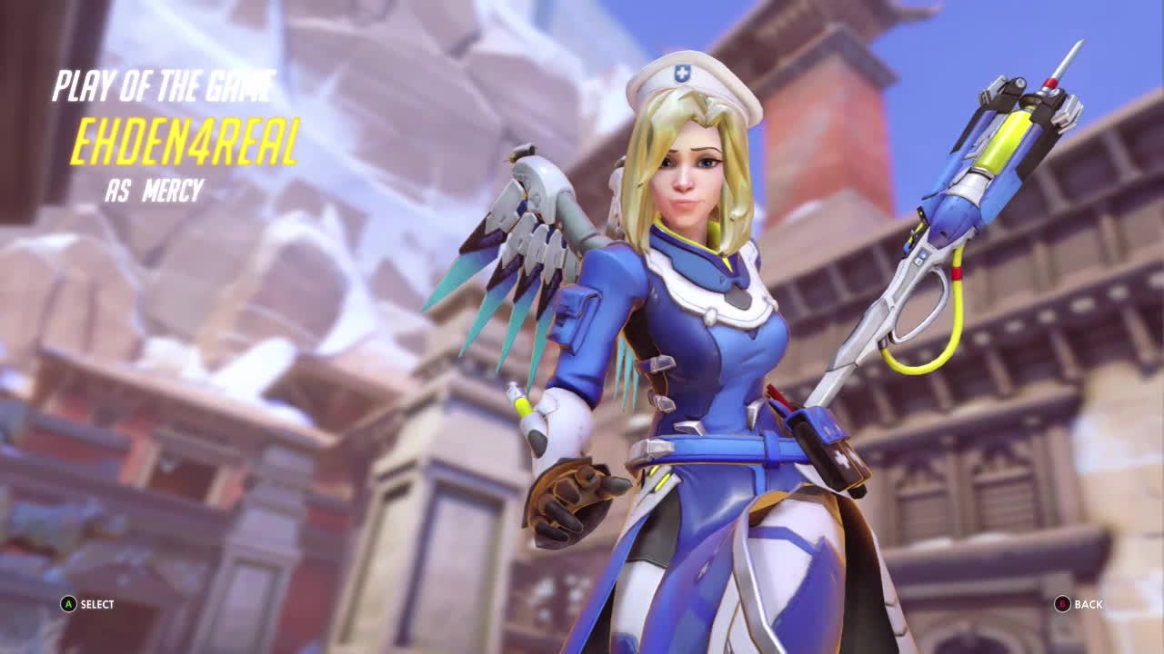 mercy, overwatch, ultimategifs, QP explained with a Mercy PotG GIFs