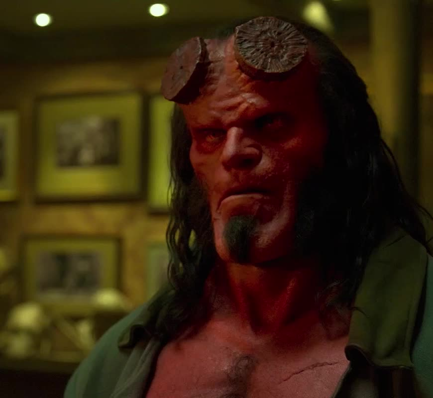 confused, dark horse, dark horse comics, david harbour, hellboy, hellboy 2019, hellboy movie, huh, superhero, superheroes, what, Hellboy Confused David Harbour GIFs
