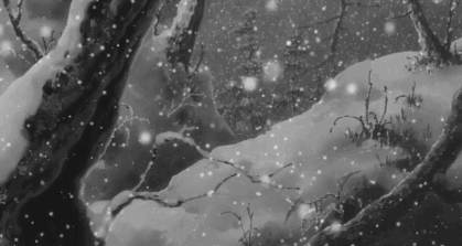 animated, animation, anime, art, black and white, cold, cool, earth, gif, japan, japanese, manga, nature, relax, relaxing, snow, snowfall, weather, winter,  GIFs