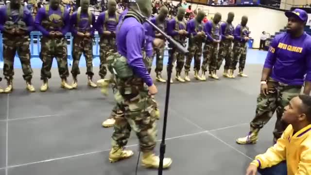 Watch Omega Psi Phi probate | mu psi '16 GIF on Gfycat. Discover more related GIFs on Gfycat