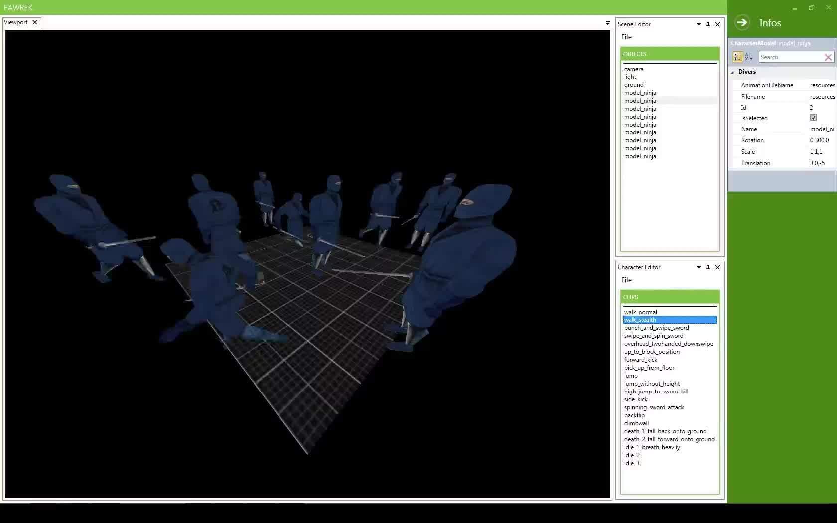 engine, fawrek, gamedev, Fawrek Engine Low Poly Scene GIFs
