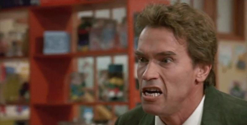 ArnoldSchwarzenegger, SHUTUP, stfu, SHUT UP [Kindergarten Cop 1990 Arnold Schwarzenegger GIFs