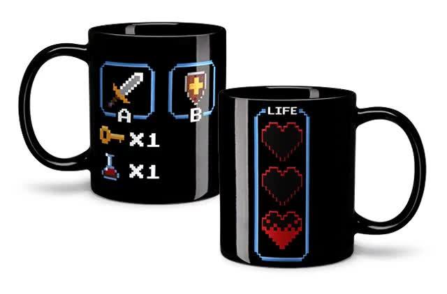 Watch and share Legend Of Zelda Heat Changing Coffee Mug GIFs on Gfycat