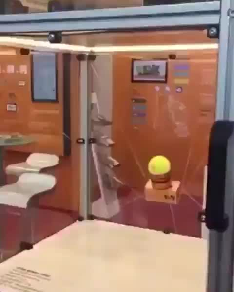 Watch and share The Way This Machine Balances A Tennis Ball GIFs by tothetenthpower on Gfycat
