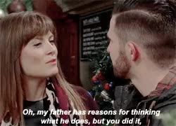 Watch careful, i'm getting a tingle; GIF on Gfycat. Discover more *, FFS CAN WE JUST ... LOOK AT HOW CHRISSIE JUST WALKS IN AND LINKS HER ARM WITH ROSS'???, THIS SCENE DOESN'T LET ME SLEEP AT NIGHT OR LIVE IN THE DAY, and like ... im just ... is there a NEED to stare at each other like that???, bc this scene needs to be enjoyed to the fullest, chrissie white, chross, emmerdale, god knows how you'll be when you go get together [notice i say WHEN not IF], ross barton, tingles, y'all aren't even together and THIS is how you act like GIFs on Gfycat
