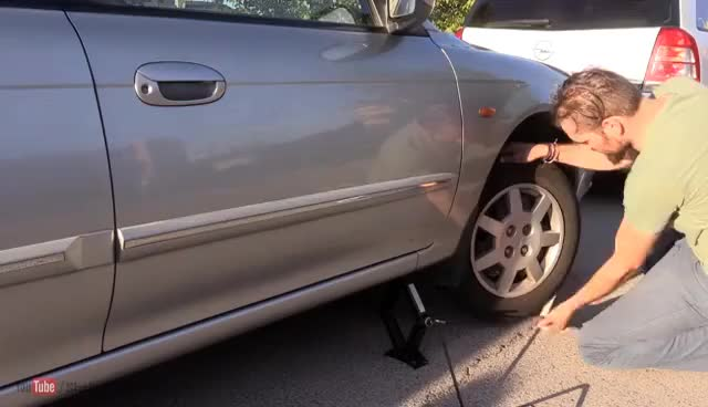 Watch and share Start Your Car With A Rope (Dead Battery Life Hack) GIFs on Gfycat