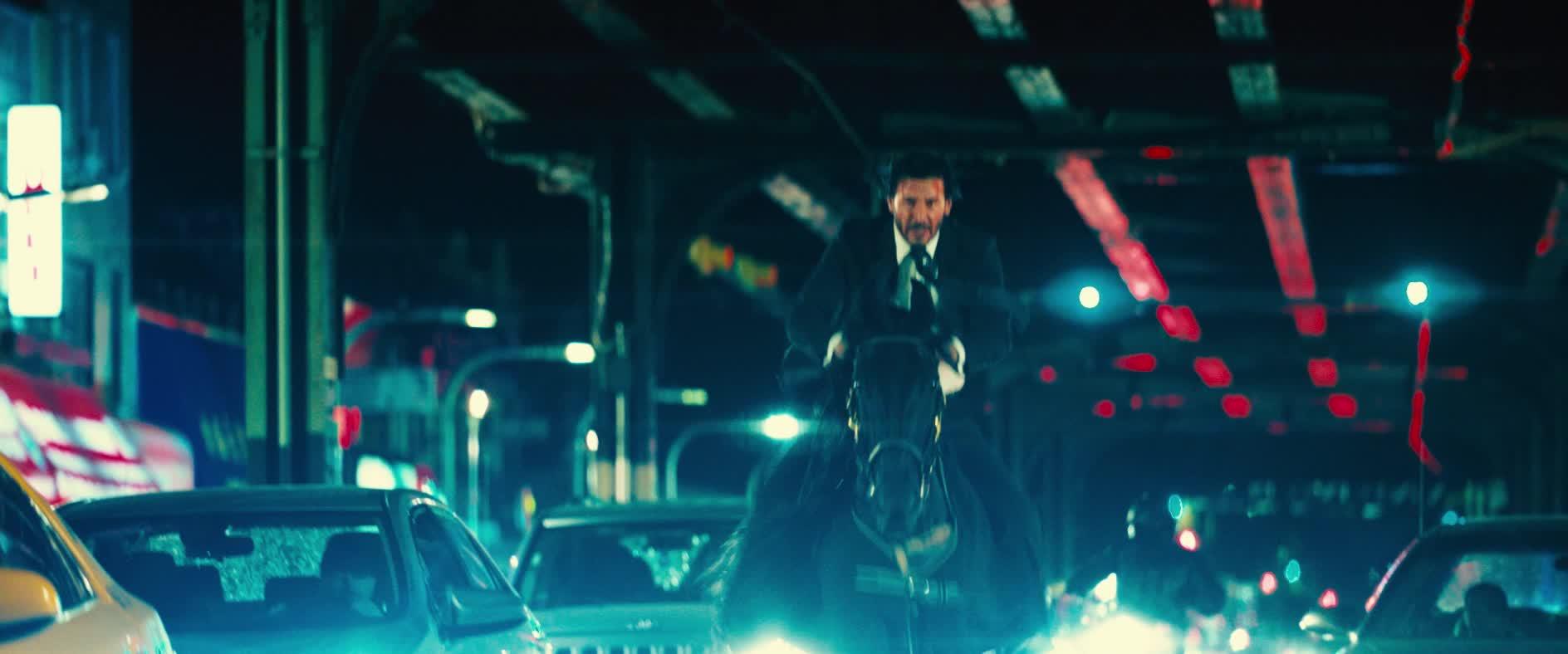 fight, horse, john wick, john wick 3, john wick chapter 3, john wick chapter 3 parabellum, keanu reeves, John Wick Keanu Reeves Horseback New York Streets GIFs