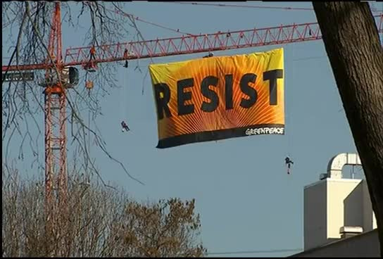 Watch and share Police: 7 Protesters On DC Crane Associated With Greenpeace GIFs on Gfycat