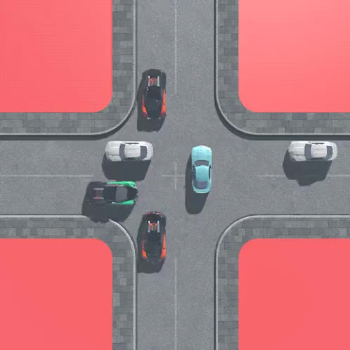 Watch and share Gif Loop 3d Pink C4d Cars Infinite Crash Cinema 4d Road Cross Crossroads GIFs on Gfycat