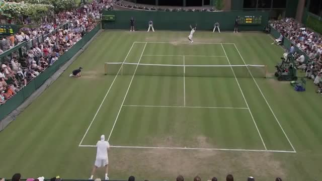 Watch John Isner's epic Wimbledon 2010 match vs. Nicolas Mahut | ESPN Archives GIF on Gfycat. Discover more espn, isner, mahut, tennis, wimbledon GIFs on Gfycat