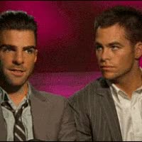 Watch and share Zachary Quinto GIFs and Chris Pine GIFs on Gfycat