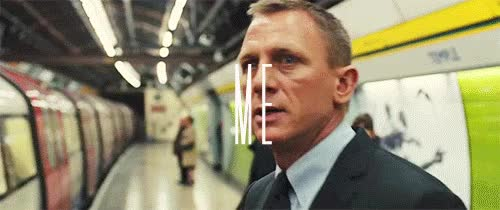 Watch and share My Edits Q James Bond Skyfall My!gifs 00q My!skyfall Same Font Sorry Get On The Train GIFs on Gfycat