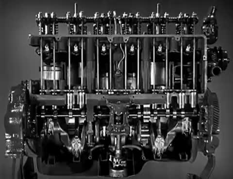 "Watch and share Motor Oil: ""Riding The Film"" 1937 Chevrolet Engine Lubrication 11min GIFs on Gfycat"