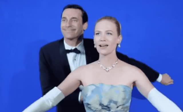 Watch and share January Jones GIFs and Jon Hamm GIFs by Reactions on Gfycat