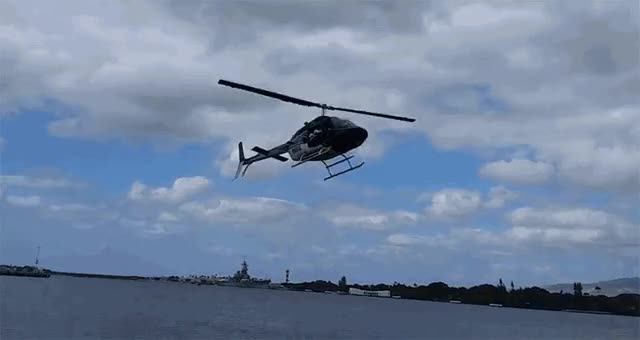 Watch and share Five Survive Nasty Helicopter Crash At Pearl Harbor - Aviation Buzzword GIFs on Gfycat