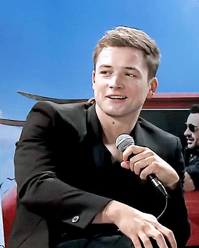 Watch and share Taron Egerton GIFs and Celebs GIFs on Gfycat