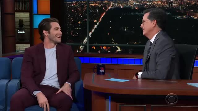 Watch and share Jake Gyllenhaal GIFs and Stephen Colbert GIFs on Gfycat