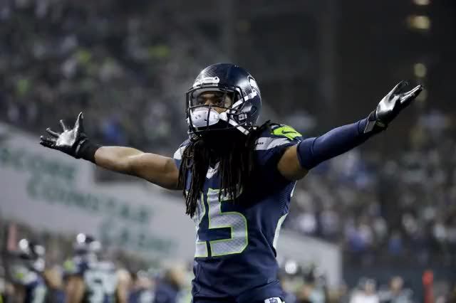 Watch and share Richard Sherman animated stickers on Gfycat
