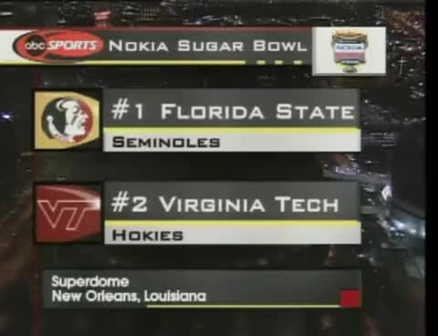 Watch 2000 Sugar Bowl (National Championship): Virginia Tech vs. Florida State: Hokie Highlights GIF on Gfycat. Discover more related GIFs on Gfycat
