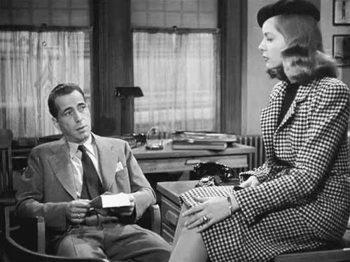 Watch From The Big Sleep (1946). In honor of Lauren Bacall's passi GIF on Gfycat. Discover more 1940s, cool, femme fatale, film noir, gif, glamour, howard hawks, humphrey bogart, lauren bacall, my gif, nostalgia, retro, the big sleep, vintage gif GIFs on Gfycat