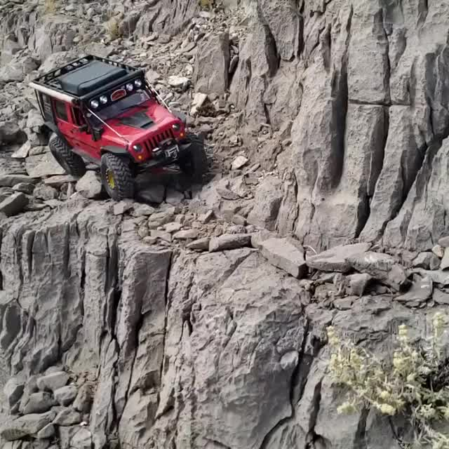 Watch and share Jeep Trecks Across Sketchy Trail GIFs by GIFs For Everything on Gfycat