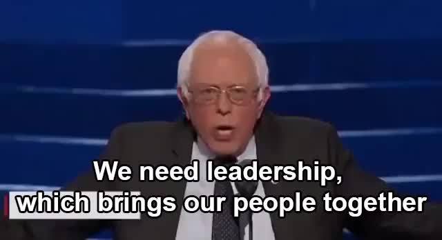 Watch Bernie Sanders @ DNC 2016 - Bring us together GIF on Gfycat. Discover more Bernie Sanders, DNC2016 GIFs on Gfycat